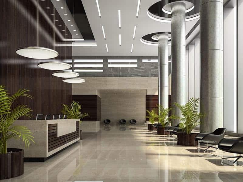 עיצוב לובי בית מלון